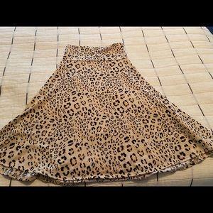 Lularoe Azure Skirt Leopard Print Size Small